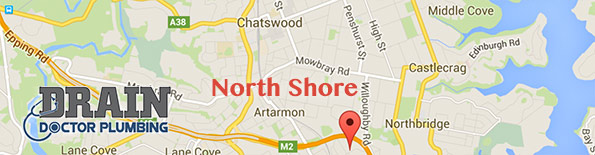 Our plumbing service covers the North Shore of Sydney